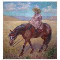 Andres de Santamaría - Nina a caballo.