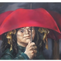 Enruque Grau - El paraguas rojo.
