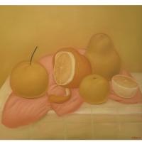 Fernando Botero - Naturaleza muerta con naranjas.