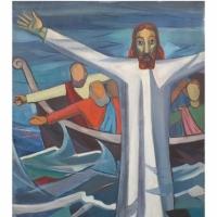 Ignacio Gómez Jaramillo - Cristo apaciguando las aguas.