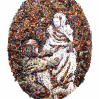 Vik Muniz - Rebus the mask after Oscar Rejlander.