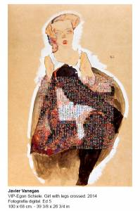 JV- Egon Schiele Girl With Legs Crossed